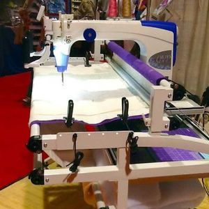 Juki, TL2200, tl-2000, QVP, Quilt Virtuoso Pro, Longarm, 18x10  inch, Machine, Frame, Stitch Regulator, Encoder Platform, Thread Trimmers, M Bobbin, Direct Drive, Front Back, 8 Wheel Platform, 2200SPM, Juki TL2200QVP Quilt Virtuoso Pro LongArm 18x10&quot; Machine +5-10-12' Grace Frame, Stitch Regulator, Thread Trim, MBobbin, Direct Drive, Front Rear Handles