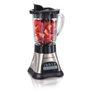 New Hamilton Beach 58143 Metal Body 12 Function Glass Jar Blender