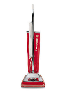 Sanitaire, SC886E, Quick Kleen, #1 ,Commercial Upright, Metal Vacuum Cleaner RED, 7A, 50' Cord, 6 Position Carpet Height, Top Fill Cloth Shake-out Bag