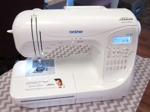 Brother, BX2925PRW, PC-420PRWA, PC420PRWA, PC-420PRW,  PC-420, pc-210, ns80, ns-80,  pc420, 294-Stitch, Computer Sewing Machine, PC420, LCD, 10 Buttonholes, 3  Alphabet  Fonts, Knee Lifter, 6 Feed Dogs, Hard Case, Replaces NX400, NEW Brother Project Runway ALLSTARS PC-420PRWAS 294 Stitch Computer Sewing Machine PC420, Fashion Designer Anthony Ryan Auld Signature Limited Edition