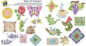 Amazing Designs / Great Notions 1249 Mosaic Tile Collection I Multi-Formatted CD