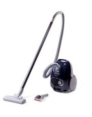 Bosch BSA2100UC RB Compact Lightweight Canister Vacuum Cleaner, 1200W 12A, 1Gal Bag, Carry Handle, 17' Cord Rewind, 360° Caster, Lg Rear Wheels, 10Lb