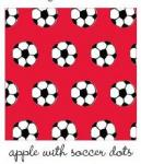 Kiwi Embroidery Paper #72 Apple With Soccer Dots 8.5in x 11in Sheet