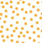 Fabric Finders  #1055 Orange Dots on White Twill 15 Yd Bolt 9.34 A Yd100% Cotton 60""